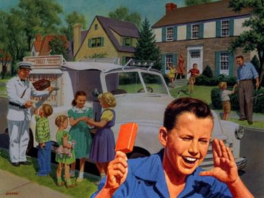 Children Flocked Around the Ice Cream Truck