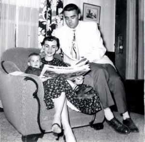 Craig, Carolyn and Don Ward, Nov. 1955