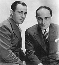 Songwriters Richard Rodgers and Lorenz Hart