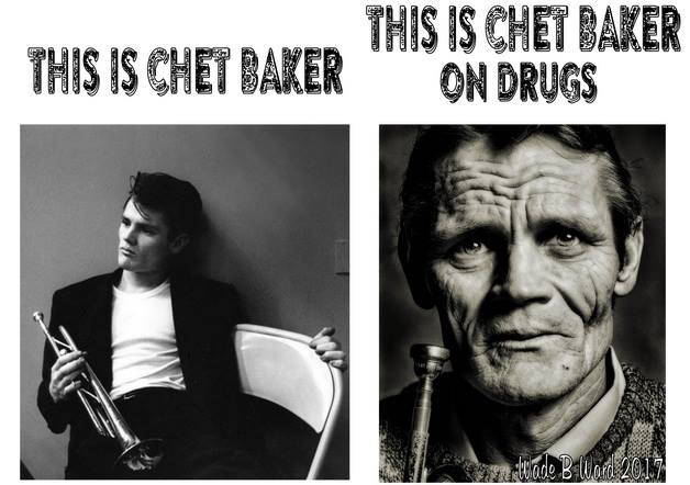 Chet Baker on drugs