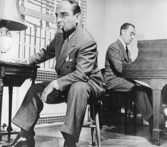 Richard Rodgers and Lorenz Hart composing a song