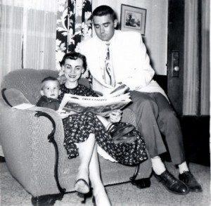 Craig Ward with his parents